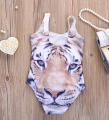 3-D Print Toddler Tiger Swimsuit