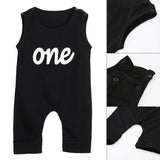 'One' Baby Sleeveless Romper