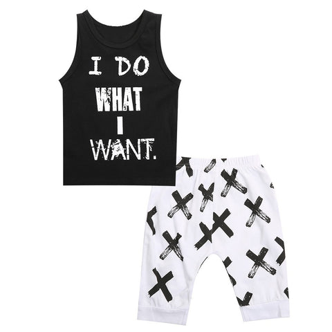 'I DO WHAT I WANT' 2-pc Tank + Harem Pant Set