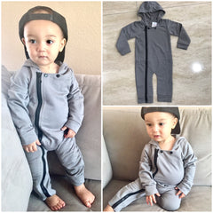 The 'Maverick' Full-Zip Hooded Jumpsuit