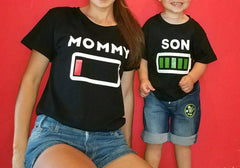 'Battery Life' Matching Family Shirts / Rompers
