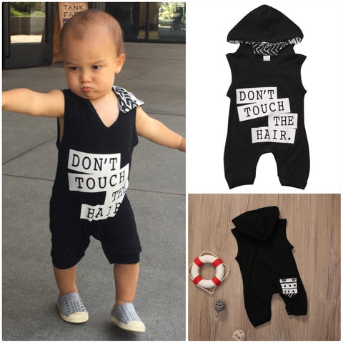 'Don't Touch The Hair' Hooded Sleeveless Jumpsuit
