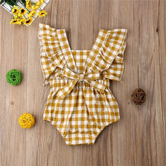 Baby Girl Plaid Jumpsuit