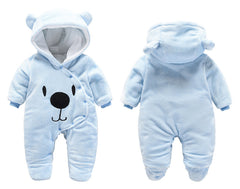 'Snuggly Bear' Hooded Jumpsuit