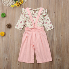 'Pinky' Two Piece Overall Outfit