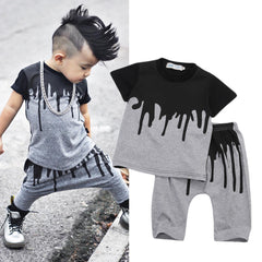 2-PC 'DRIP' Shirt + Harem Pant Set