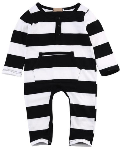 'Fashion Burgler' Striped Romper