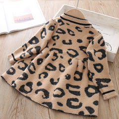'Kitty' Leopard Sweater Dress
