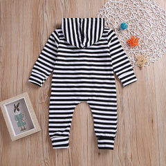 'Stripey' Hooded Jumpsuit
