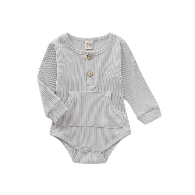 'Buttons & Pockets' Onesie