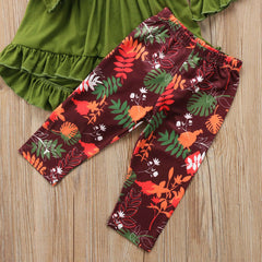 'Harvest' Ruffled shirt + Pants Set