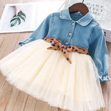 Denim Bow-Belt Dress