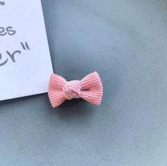 Corduroy Hair Bows (2 pieces)