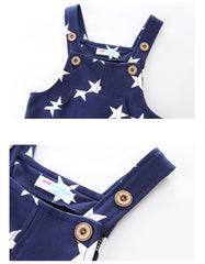 'Starry' Pattern Overalls