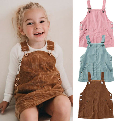 'Duo' Double-Pocket Corduroy Overalls