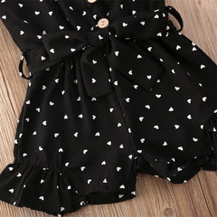 'Hardy' Speckled Heart Romper