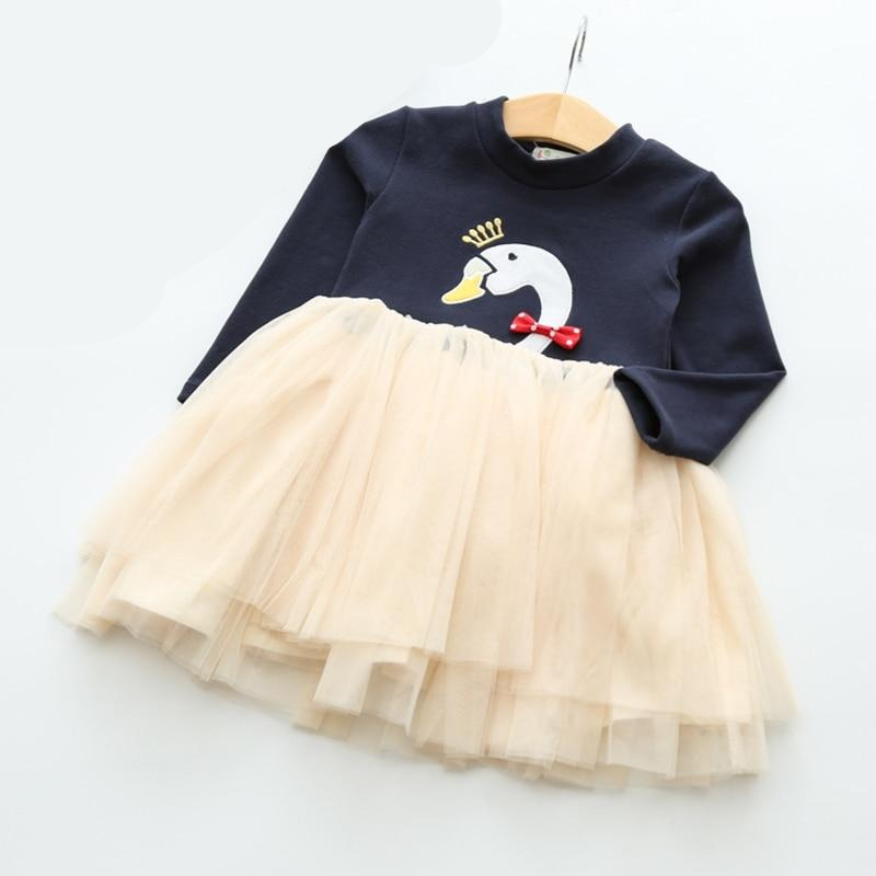 'Queen Goose' Long Sleeve Tutu Dress