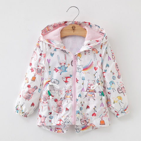 'Sketch' Whimsical Zip-Up Jacket