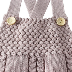 'Jillybean' Cable-Knit Overalls