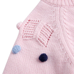 'Fuzz Ball' Knitted Cardigan