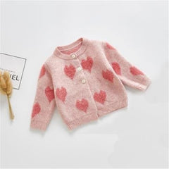 'LOVE' Onesie + Cardigan Set