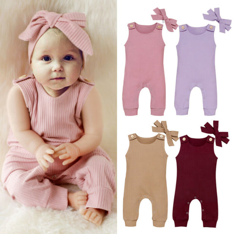 'Bexley' Headband + Jumpsuit Set