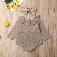 'Olivia' Romper + Bow Set