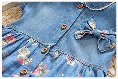 'Serenity' Denim Flower Dress
