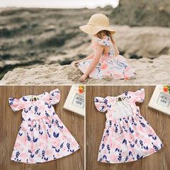 'Clara' Short-Sleeve Floral Dress
