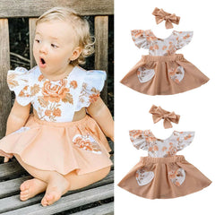 'Teigen' Dress + Headband Set