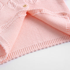 'Diamond' Button-Up Cardigan