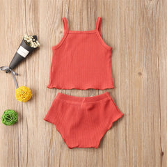 'Summer Vibes' Two-Piece Tank + Shorts Set