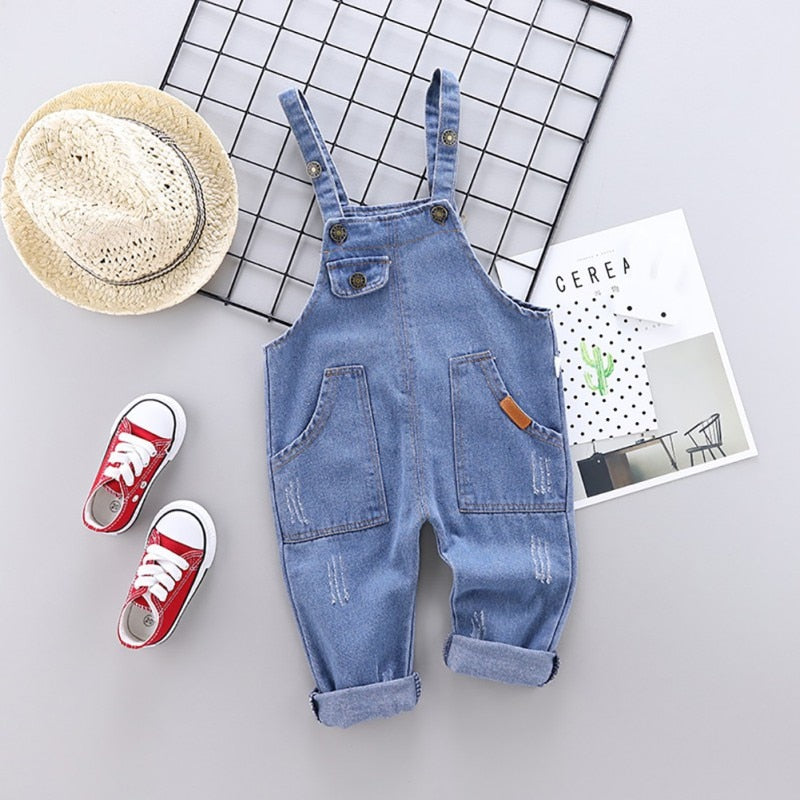 'Rural' Large-Pocketed Overalls