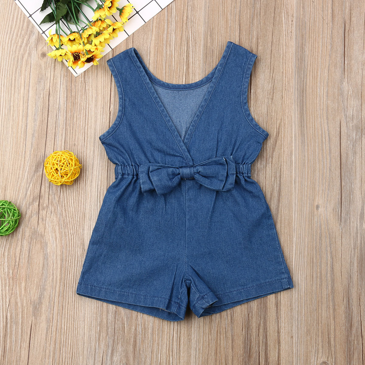 'Dani' Denim Toddler Romper