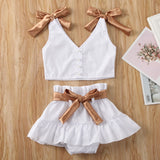 'Goldie' Two-Piece Bowknot Outfit