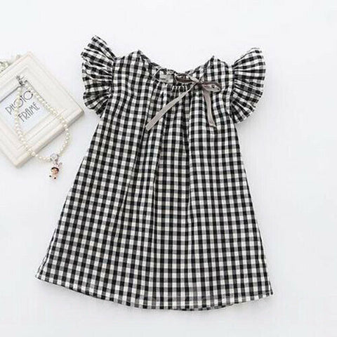 'Checkers' Plaid Toddler Dress