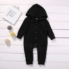 'Ninja Black' Hooded Jumpsuit