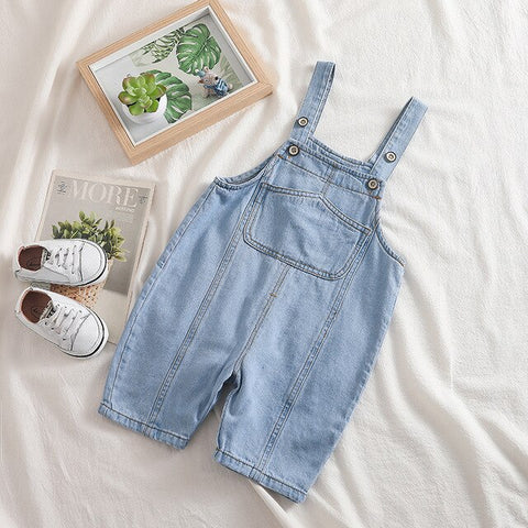 'Junior' Toddler Denim Overalls