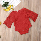 'Mildred' Ornate Lace Onesie