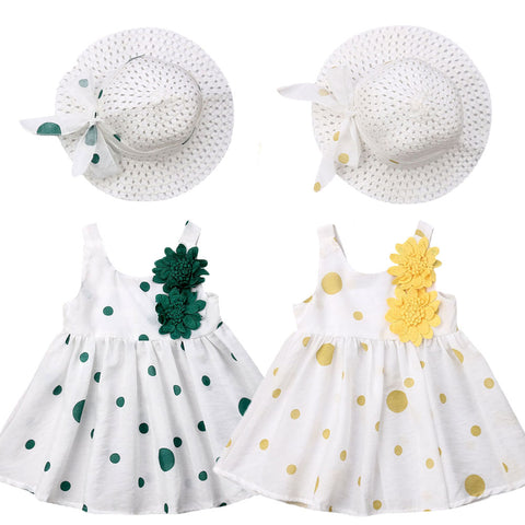 'Brooch' Dress + Hat Set