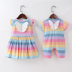 'Rainbow Butterfly' Winged Dress or Jumpsuit