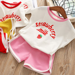 'Strawberry Milk' Shirt + Shorts Set