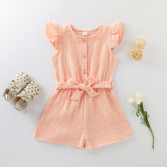 'Alessia' Bowed Sleeveless Romper