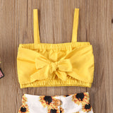 'Helia' Sunflower Top + Bottom Set