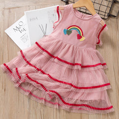 'Rainbow Love' Layered Twirl Dress