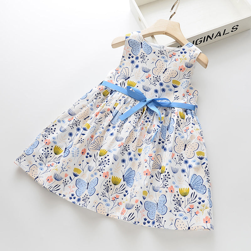 'Summer Field' Tied Butterfly Sun Dress