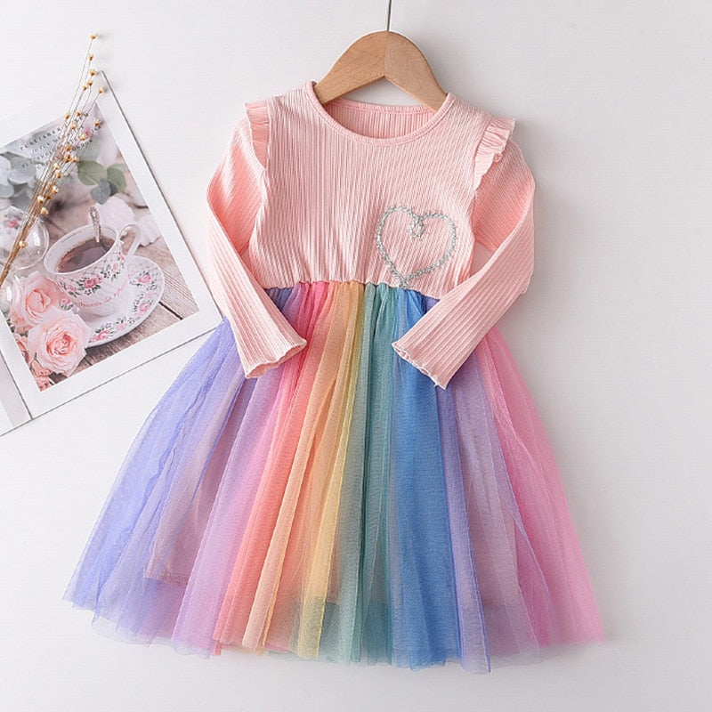 'Rainbow Dreams' Mesh Tutu Dress