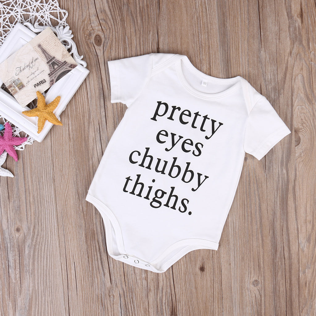 50ecc1f0b Pretty Eyes Chubby Thighs' Onesie | The Milk Camp