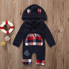 The 'Slater' Plaid Hooded Jumpsuit
