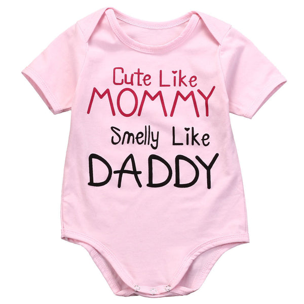Cute Like Mommy Smelly Like Daddy Onesie The Milk Camp